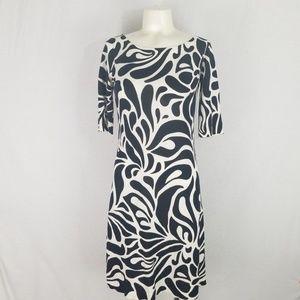 J. CREW  BLACK AND WHITE DRESS SIZE XS
